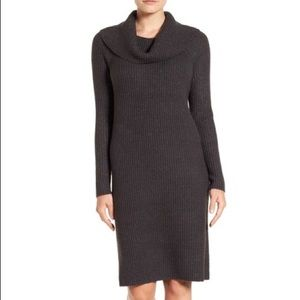NWT Halogen Turtleneck Sweater Dress Charcoal Gray